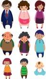 Cute cartoon family element royalty free stock photography
