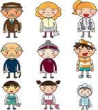 Cute cartoon family element stock image