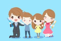 Cute cartoon family Stock Image