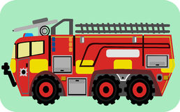 Cute Cartoon Fire Trucks Stock Image