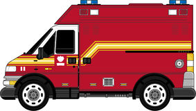 Cute Cartoon Fireman - Fire Truck. An EPS file is also available Royalty Free Stock Image