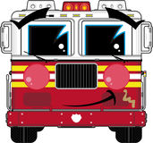 Cute Cartoon Fireman - Fire Truck. An EPS file is also available Stock Images