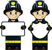 Cute Cartoon Fireman - Firefighter. An EPS file is also available. Cute Cartoon Fireman Royalty Free Stock Images