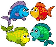 Cute cartoon fishes collection Stock Image