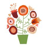 Cute cartoon flower tree. This is file of EPS8 format stock illustration