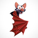 Cute cartoon flying  Bat Royalty Free Stock Photo