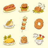 Cute cartoon food Royalty Free Stock Photos