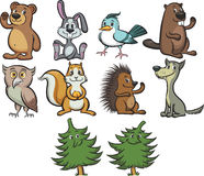 Cute cartoon forest animals Royalty Free Stock Photo