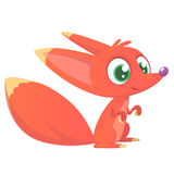 Cute cartoon fox character. Vector illustration stock images