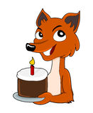 Cute cartoon fox Royalty Free Stock Photography