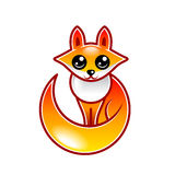 Cute cartoon fox isolated vector Stock Photo