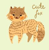 Cute cartoon fox Stock Photo