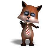 The cute cartoon fox is very smart and clever Royalty Free Stock Photo
