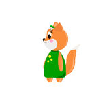 Cute cartoon Fox Royalty Free Stock Photos