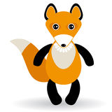 Cute cartoon fox on white background.  Royalty Free Stock Image