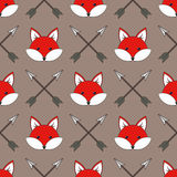 Cute cartoon foxes Stock Images