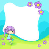 Cute cartoon frame Royalty Free Stock Photography