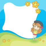 Cute cartoon frame Royalty Free Stock Image