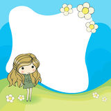Cute cartoon frame Stock Images