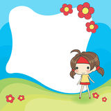 Cute cartoon frame. Created by vector Royalty Free Stock Photography