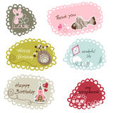 Cute cartoon frames Royalty Free Stock Photo