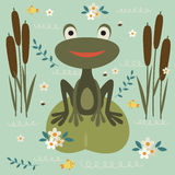 Cute cartoon frog Royalty Free Stock Photo