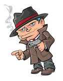 Cute cartoon gangster Stock Photography