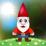 Cute Cartoon Garden Gnomes Royalty Free Stock Photo