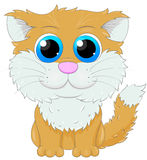 Cute cartoon ginger cat Royalty Free Stock Photos