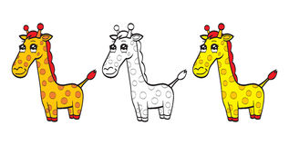 Cute cartoon giraffe Royalty Free Stock Photos