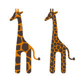 Cute cartoon giraffe isolated on white vector. Royalty Free Stock Photo
