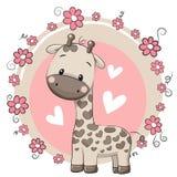 Cute Cartoon Giraffe Royalty Free Stock Photography