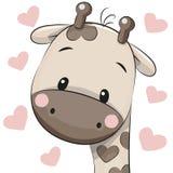 Cute Cartoon Giraffe Stock Image
