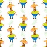 Cute cartoon giraffe Stock Photo