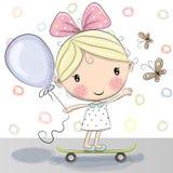 Cute Cartoon Girl Stock Photos