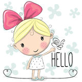 Cute Cartoon Girl Stock Photography