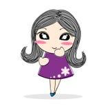 Cute cartoon girl Royalty Free Stock Photos
