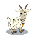 Cute cartoon goat with bell. Stock Image