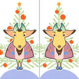 Cute cartoon Goat ling Royalty Free Stock Image