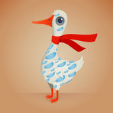 Cute Cartoon Goose Royalty Free Stock Photography