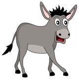 Cute Cartoon Gray Donkey Animal vector illustration