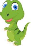 Cute cartoon green dinosaur Stock Photo