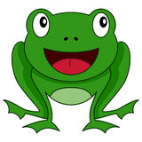 Cute Cartoon Green Frog Smiling Icon Royalty Free Stock Photos