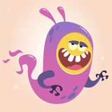 Cute cartoon green ghost. Vector Halloween monster character  Royalty Free Stock Images