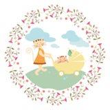 Cute cartoon greeting cards Stock Photography