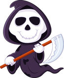 Cute cartoon grim reaper Royalty Free Stock Image