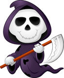 Cute cartoon grim reaper Stock Images