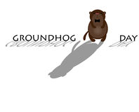 Cute cartoon groundhog Royalty Free Stock Images