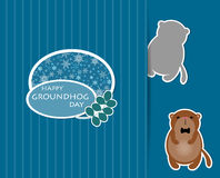 Cute cartoon groundhog Royalty Free Stock Photos