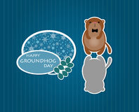 Cute cartoon groundhog Stock Photo